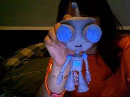 completed gir plushie by nottotallyhere