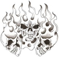 Skulls and Flames by TheLob
