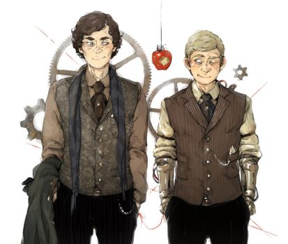 Sherlock: Steampunk Soulmates by sweetlittlekitty