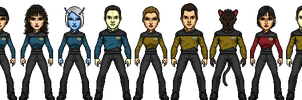 Commadore-Shuey Star Trek TNG Season 3 WIP by SpiderTrekfan616
