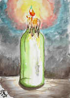 August ninth candle painting by SulaimanDoodle