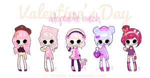 [CLOSED] ADOPTABLE BATCH #2| Valentine's day by OCshop