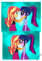 SunsetSparkle Comic Art Trade by PaulySentry