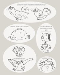 Leech monster stretch and squish sheet by occultic
