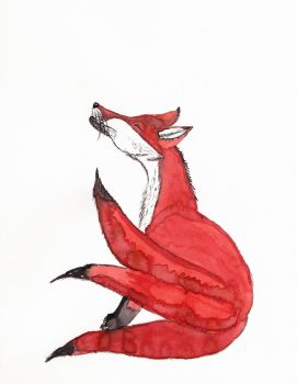 Day 112: Three-Tail's Farewell by cedarlili