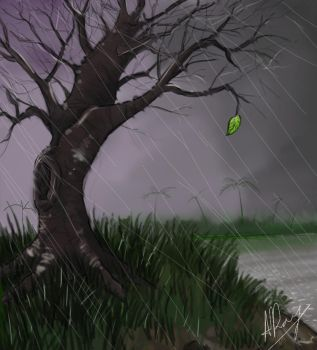 The Lonely Leaf by drion4