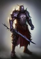Heavy knight concept by Nahelus