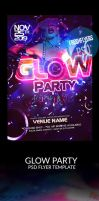 Glow Black Light Party PSD Flyer Template by ImperialFlyers
