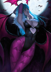 Darkstalkers Morrigan by thaumazo