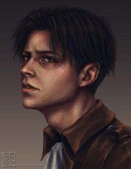 Levi Ackerman by trixdraws
