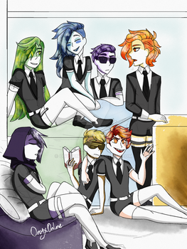 Land of the Lustrous AU by OnyxOnline