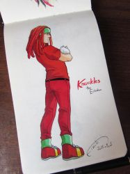 Knuckles the Human by FinikArt