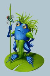 The Great Fly Hunter of the Lily Pad Tribe by Olooriel