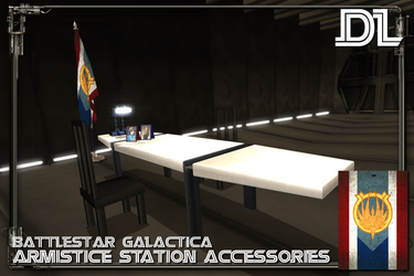 [MMD] BSG Armistice Corridor Accessories DL by Riveda1972