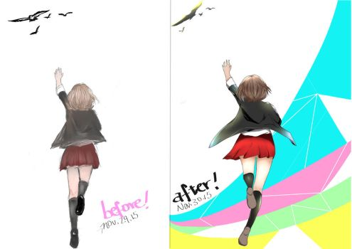 xD i drew the same pic after one day... by bluesea88