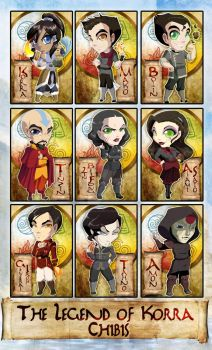 Chibi Set - The Legend of Korra by ToxicStarStudio
