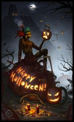 Tez Says Happy Halloween! by TheArtfulMegalodon