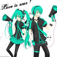 Vocaloid: Love is war by KawaiiPandah