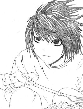 Lawliet and Cremes ~ Death Note by NamineXblade