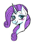 Rarity Headshot by PoneBooth