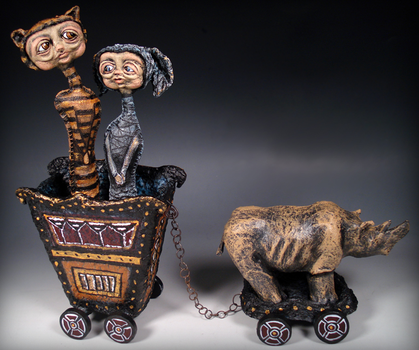 Cybal and Cici's Circus Wagon by pldeatondesigns