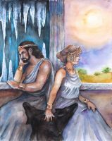 Hades and Persephone by badgersoph