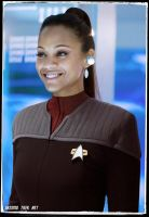Zoe Saldana in Deep Space Nine Star Trek Random by gazomg