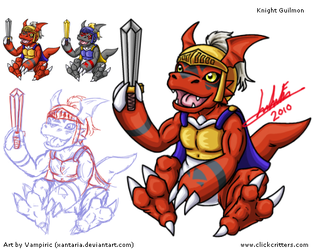 Knight Guilmon Art Sheet by Xantaria