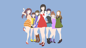 Wake Up Girls | Collab Wallpaper by ncoll36