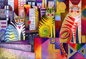 City Cats II by karincharlotte