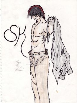 Death Note OC - SK :Shirtless: by The-Bone-Snatcher