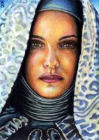 Padme Sketch Card by veripwolf