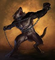 Goran the werewolf by JoeSlucher