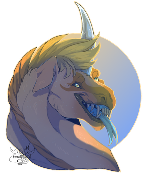 [Commission] Headshot/Bust for KrimzonAriake by FrossetHjerte