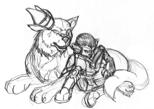 Sketch 0013 A Dog and His Boy by AndrewGainey
