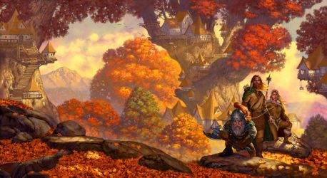 Dragons of Autumn Twilight by StawickiArt