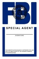 FBI Badge by Saadu