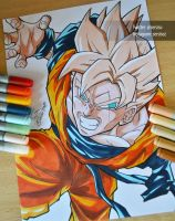 Gohan of the future of Trunks (made with Copics) by Sersiso