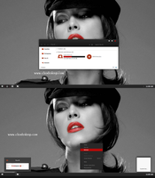 Black Red-X Theme For Windows 8.1 by Cleodesktop