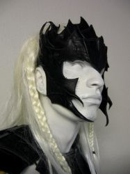Drow armored mask by Sharpener