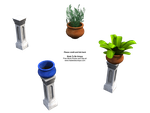 Plants, pots n pillars accents by madetobeunique