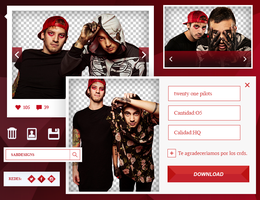 Pack PNG: twenty one pilots by SabDesings