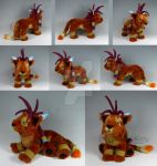 Custom Red XIII Plush by WhittyKitty