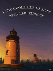 Every Journey Starts With a Lighthouse by ValeOfHearts