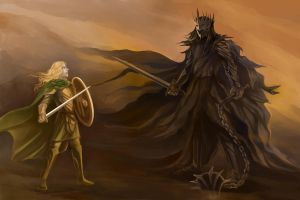 Eowyn and Witch King by Ka-ren