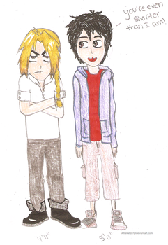 Edward Elric and Hiro Hamada by Alliekat107