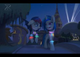 Commission - After party Canterlot by Montano-Fausto
