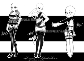 OPEN auctions | Lingerie Adopts #02 by KaeniA