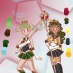 Sailor Chibi Pluto and Sailor Charon by CelestialShimmer