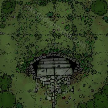 Forest Dungeon Entrance WIP by billiambabble